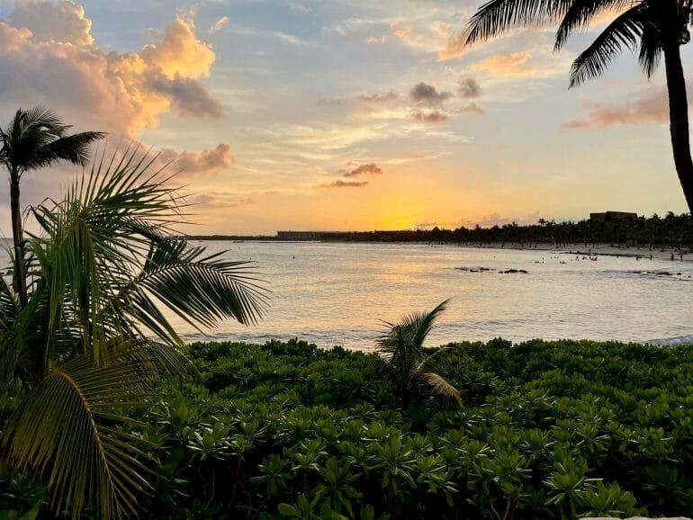 Sunset over Playa del Carmen in Cancun
