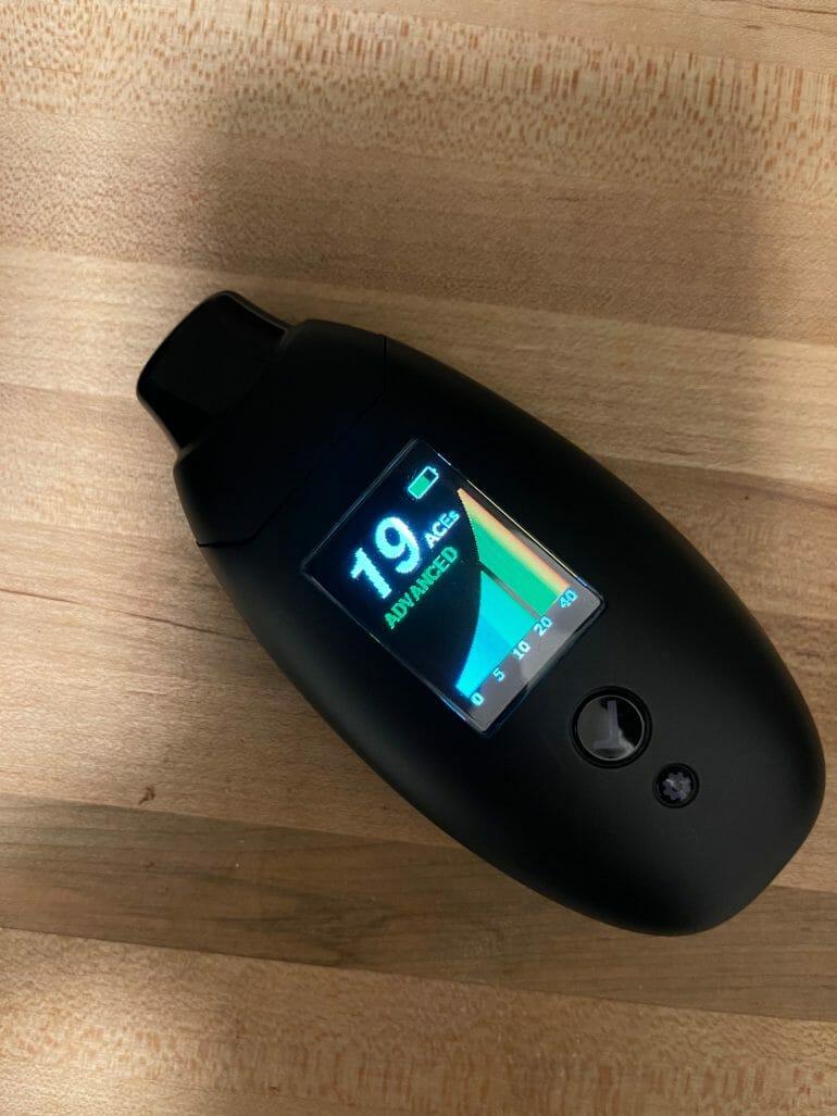 Biosense breath ketone meter showing 19 ACEs