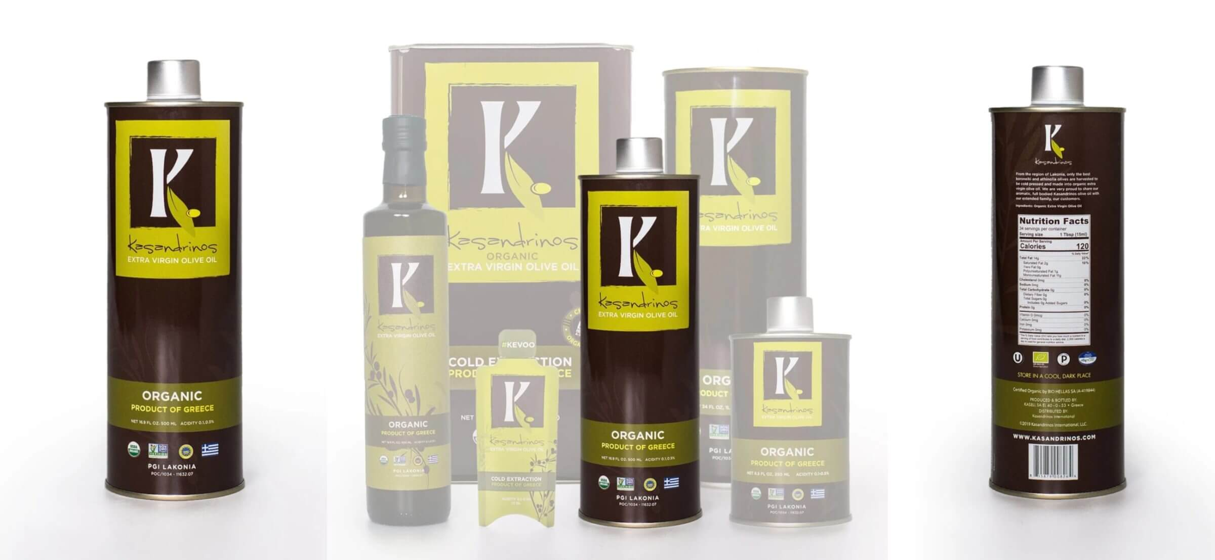 Kasandrinos extra-virgin olive oil is our brand of choice.