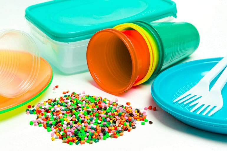 A photo of plastic products that contain toxic chemicals.