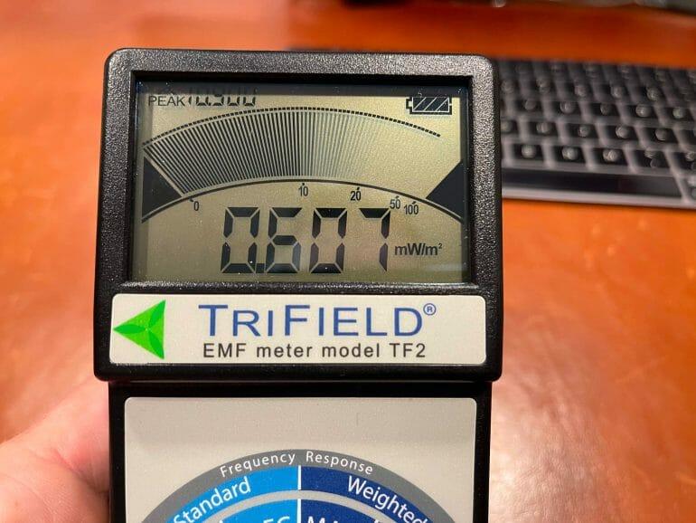 EMF meter reading