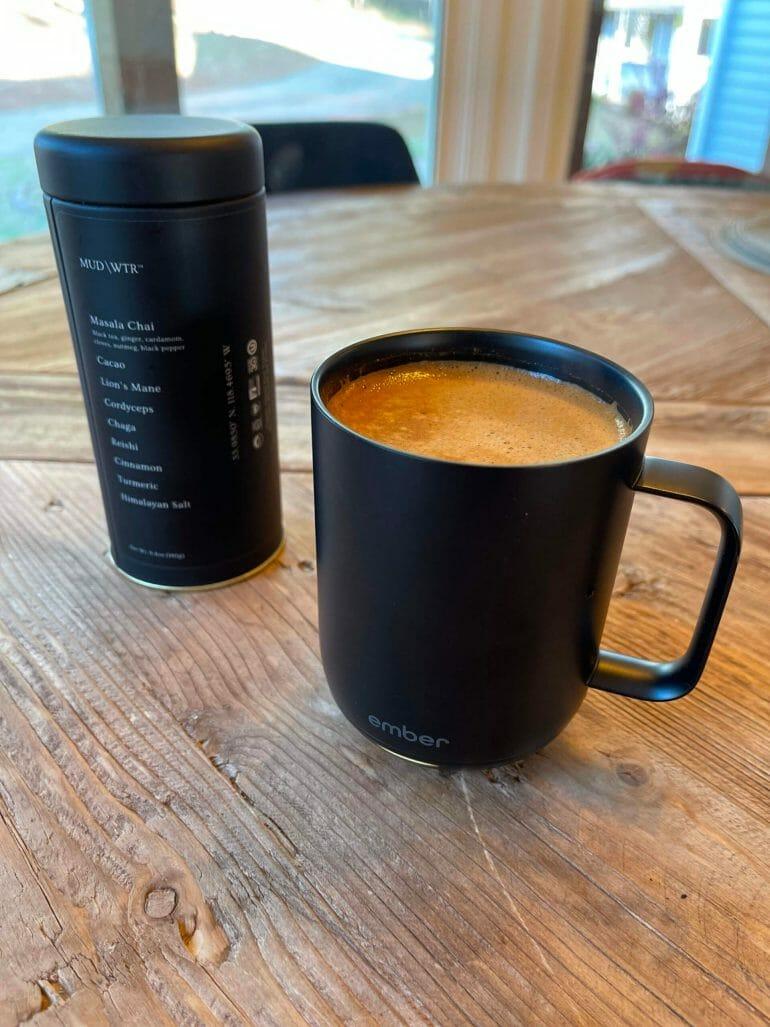 Hot MUD\WTR in my Ember mug.