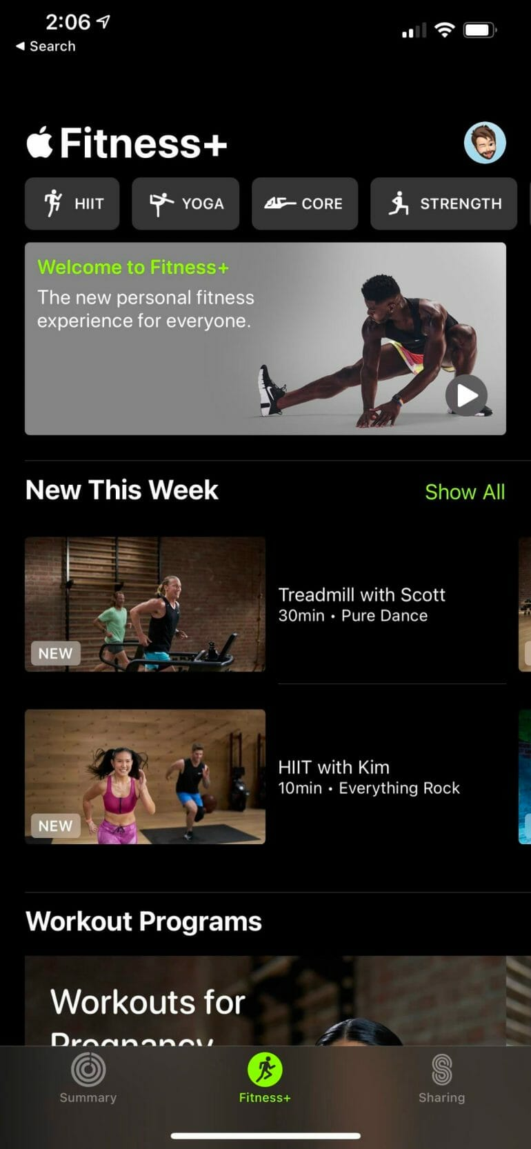 Apple's Fitness+ platform features a ton of workouts you can do at home.