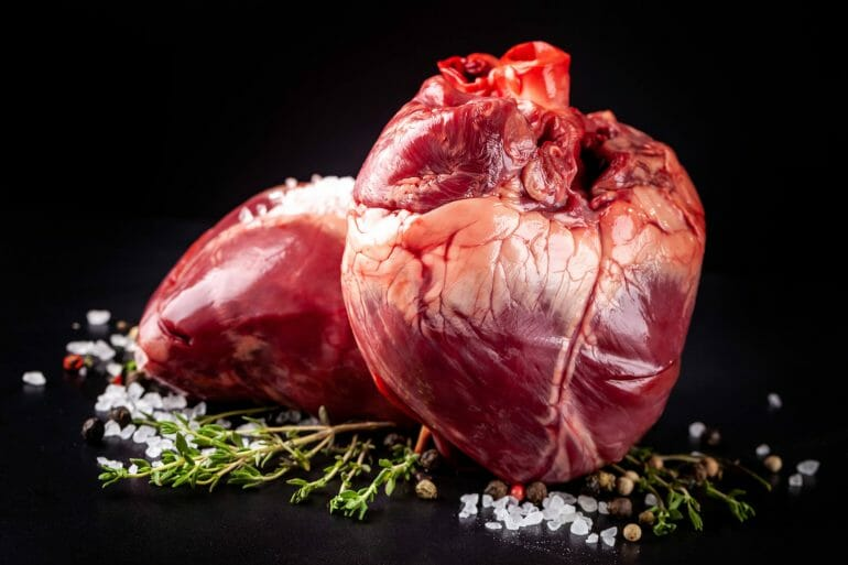 A picture of beef heart.