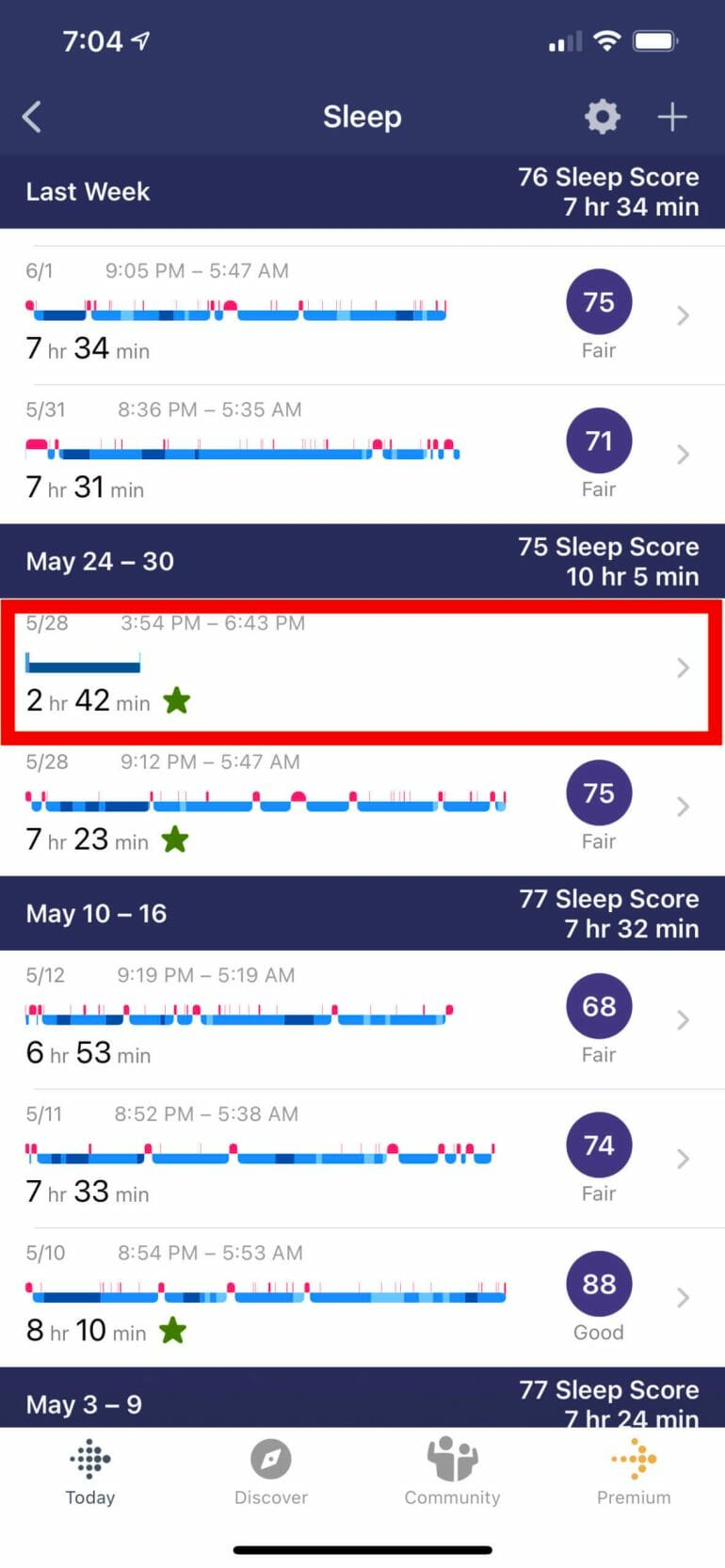 Fitbit tracked a nap that never happened.