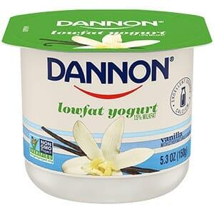 Photo of sugar-laden lowfat yogurt.