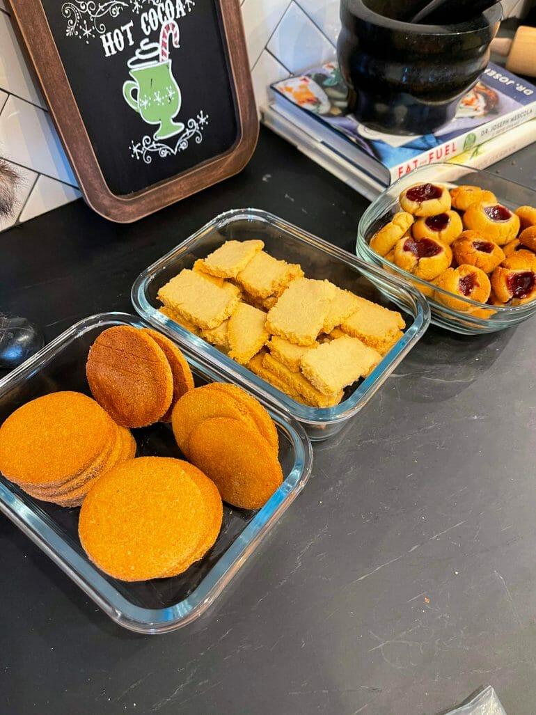Photo of paleo snacks baked by the Kummer Family.