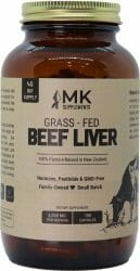 MK Supplements Grass-Fed Beef Liver (Freeze-Dried, Non-Defatted, Non-GMO, 100% Pasture-Raised, 45-Day Supply