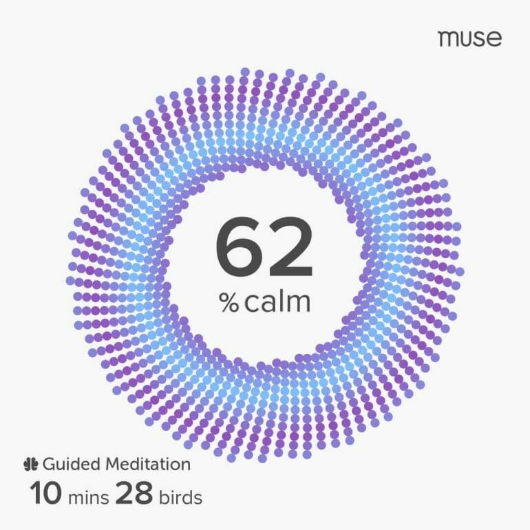 Muse S gives you insights into the effectiveness of your meditation sessions.